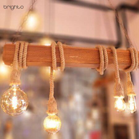 چراغ آویز چوبی روهینا