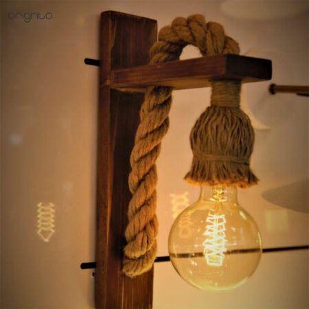 دیواری چوبی کنفی لامپ خور W10