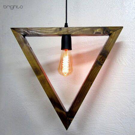 اویز چوبی هندسی مثلث