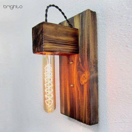 چراغ دیواری چوبی W10