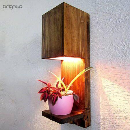 چراغ دیواری چوبی (W75)