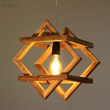 چراغ اویز چوبی M70